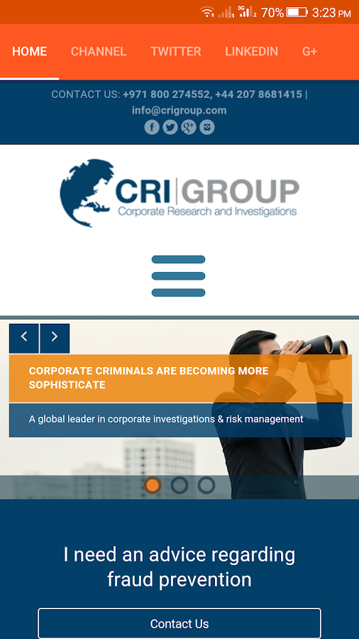 CRIGroup- screenshot