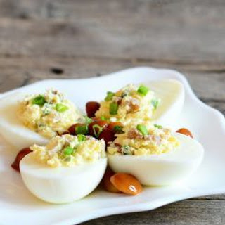 Keto Deviled Eggs.