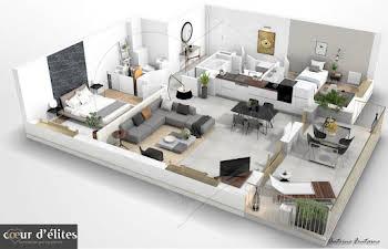 Appartement 3 pièces 74,2 m2