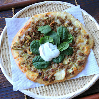 Middle Eastern Lamb Pizza (adapted from recipe in Flavours of Melbourne)