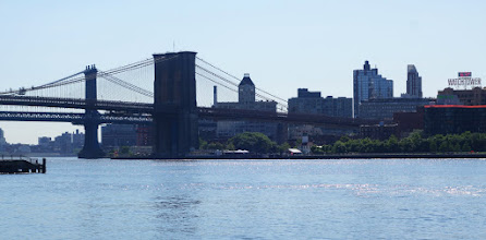 Photo: Looking at the Brooklyn Bridge and Brooklyn