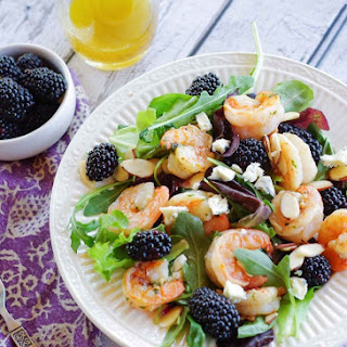 Grilled Shrimp Salad with Blackberries