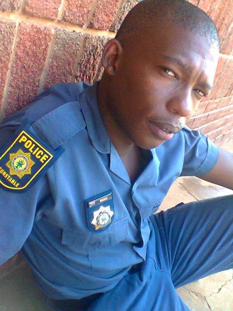 Constable Vuyani March, 27, was killed in a shootout on the Dassieskop farm near Koffiefontein, Free State on Thursday January 10 2019.