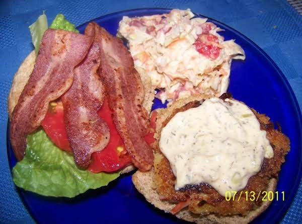 Crabcake/bacon Sandwich Recipe