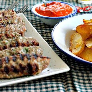 Cevapi with Ayvar Sauce