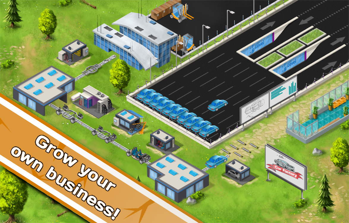 Idle Car Factory: Car Builder, Tycoon Game 2019 – (Android