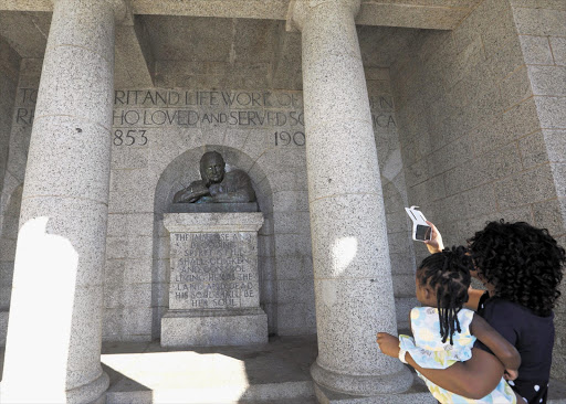 WRIT LARGE: Rhodes Memorial on Devil's Peak near the University of Cape Town.