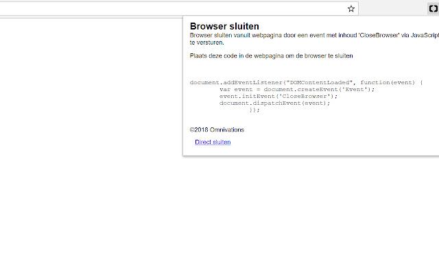 Browser sluiten