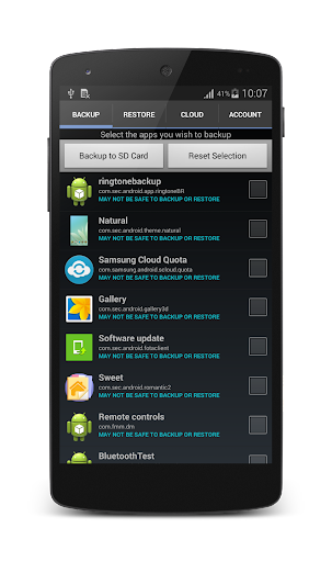 Move to Droid - Backup Restore