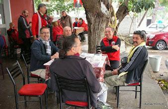 Photo: Kahvaltı molası Aydın'dan katılan arkadaşlar. Priene Z Yolu - KURŞUNLU Manastırı - Radon Termal Faaliyeti - 26.10.2014