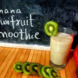 Banana Kiwi Fruit Smoothie
