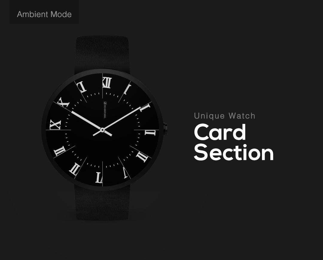 Card Section watchface by DesignerKang- screenshot