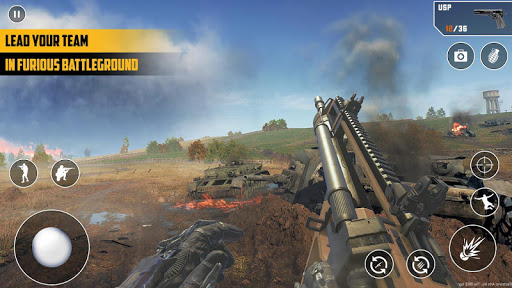 Anti-Terrorist FPS Shooting Mission:Gun Strike War android2mod screenshots 1