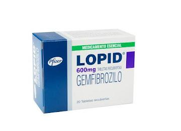 LOPID 600mg Tabletas   Caja x20Tab. PFIZER Gemfibrozilo