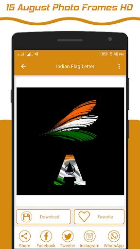 Indian Flag Latter Wallpaper , Flag Photo Frame screenshot 6