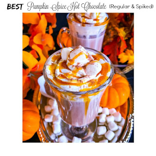Best Pumpkin Spice Hot Chocolate (Spiked and Regular)