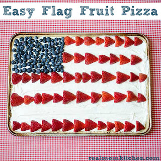 Easy Flag Fruit Pizza.