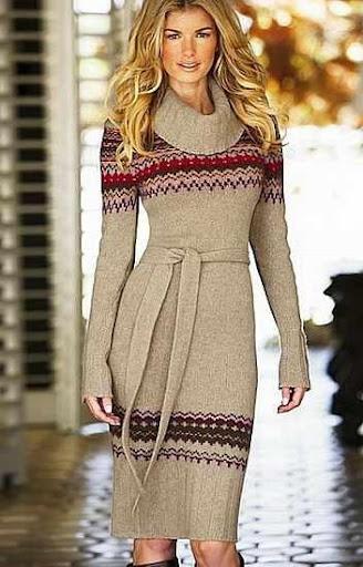 女性の冬服