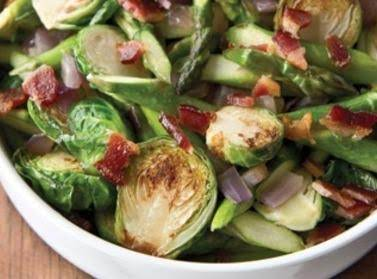 Asparagus, Onion And Brussel Sprouts