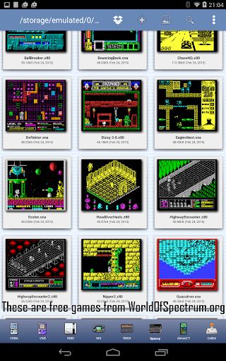 Speccy - Complete Sinclair ZX Spectrum Emulator screenshots 9