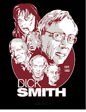 "Photo: Dick Smith (The ""Godfather"" of makeup) Tshirt design for Make-up Artist magazine."