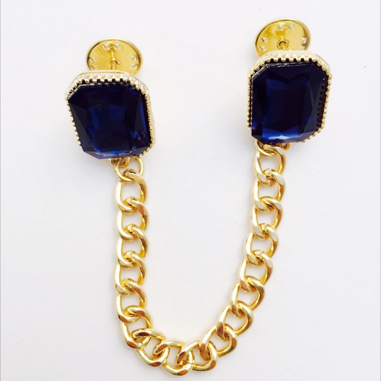 M. Deep Blue Sea Collar Brooch