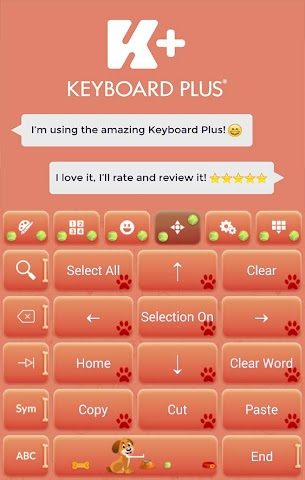 android Sweet Puppy Keyboard Screenshot 1