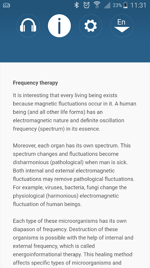 Medical Frequency Program- screenshot