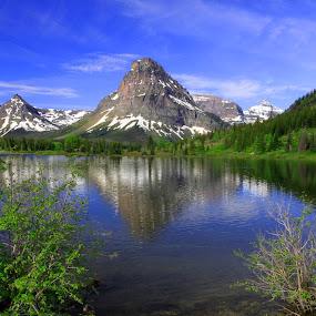 Two Medicine Glacier National Park by Gerard Pascazio - Landscapes Mountains & Hills ( reflection, two medicine montana, mountains, lake, national park usa,  )