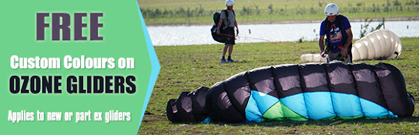Free Custom colours this Spring on any New Ozone paraglider purchase