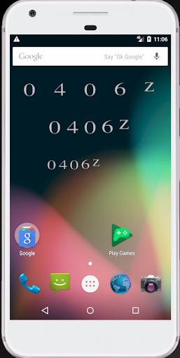 Screenshot for Aviator's Zulu Time Widget in United States Play Store