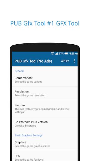 PUB Gfx Tool Freeud83dudd27(No Ads) NOBAN  screenshots 1