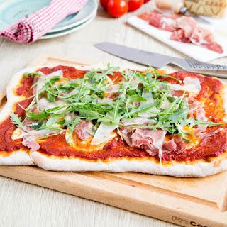 Pizza with Rocket, Grana Padano and Prosciutto Di San Daniele Recipe
