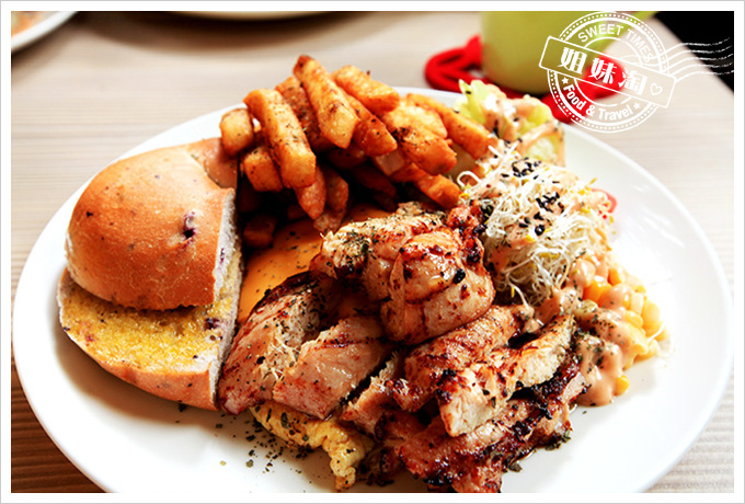 GO STAY-貝果天使蛋捲豪華餐-香煎雞胸肉
