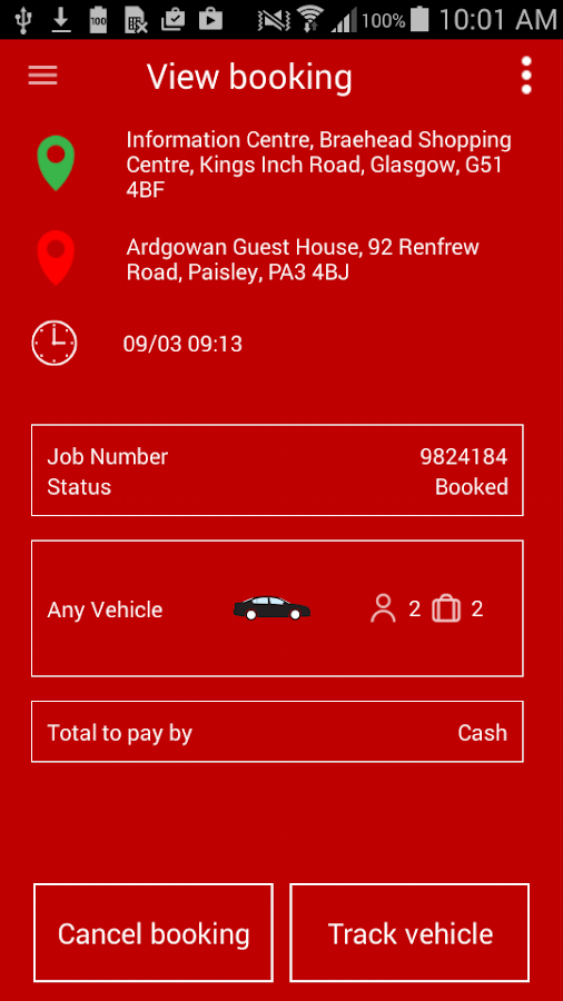 Renfrewshire Cab Co. Taxi Firm- screenshot