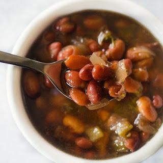 Instant Pot Triple Bean Soup.
