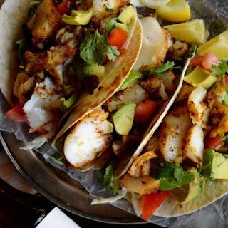 Blackened Cod Fish Tacos.