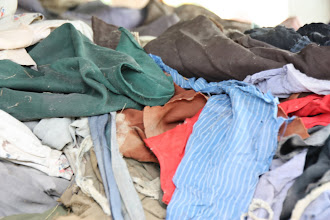 Photo: Year 2 Day 35 -  Piles of Clothing Belonging to Victims