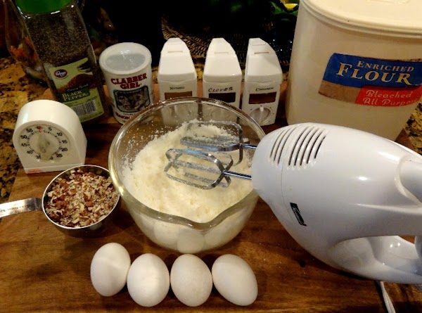 BEAT soft butter and sugar at medium speed with an electric mixer until blended....