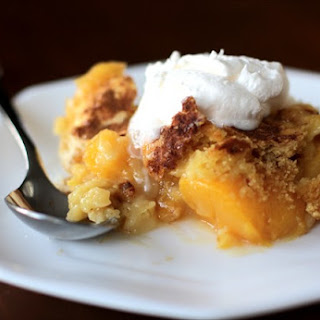 {Cake Mix + Soda} Peach Cobbler