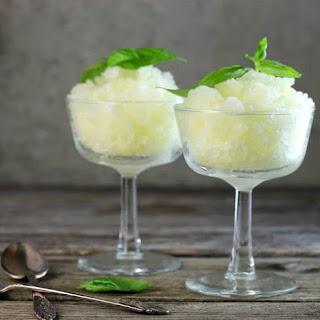 Lemon Basil Granita.