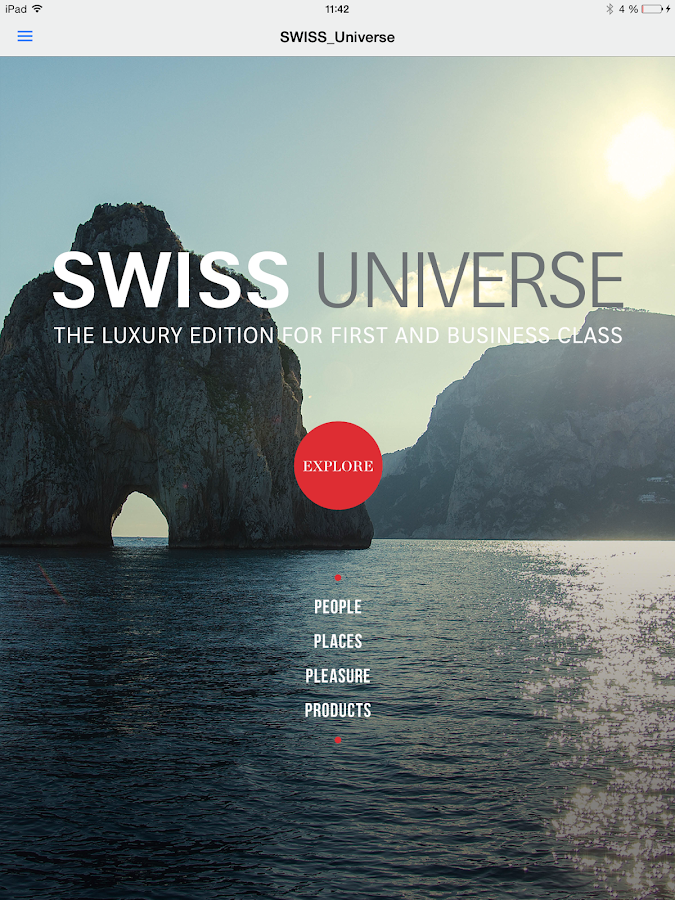 SWISS Universe Luxury App- screenshot