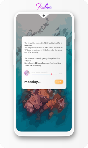 Screenshot for Fuchsia KWGT - Gradient Based Widgets in Hong Kong Play Store