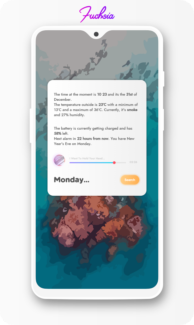Fuchsia KWGT - Gradient Based Widgets Screenshot 0