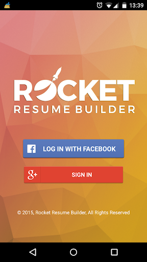 Rocket Resume Builder