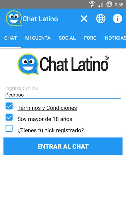 chat rooms latino