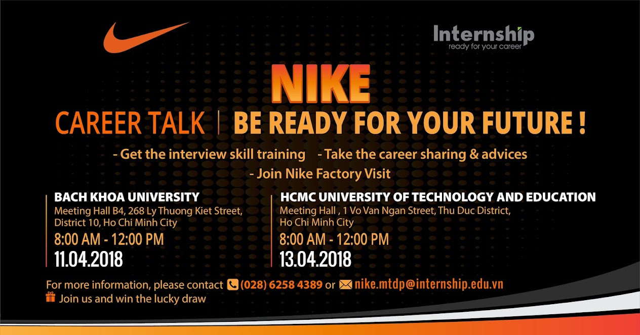 NIKE Career Talk 2018 – Be Ready For Your Future