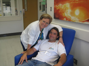 Photo: Mama's boy!  (Nurse Maria glad to see Devin again)