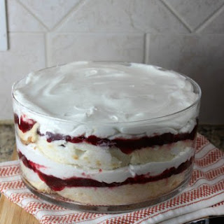 Healthier Cranberry Trifle