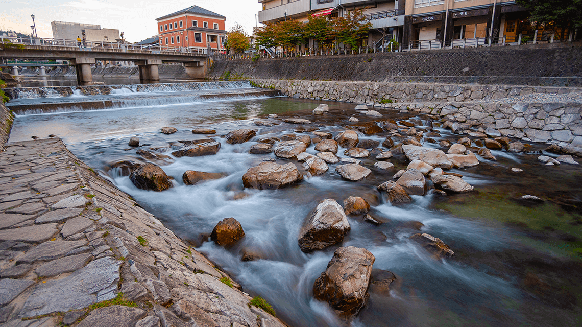 Miyagawa River, Takayama, Gifu prefecture, Japan